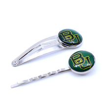 NCAA Baylor Bears Charm Women Hairpin Girls Hair Grips Kids Hair Clips University Baseketball Jewelry Fashion 2017(China)