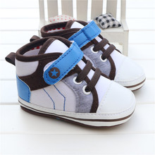 Kids Unisex 0-18 Month High Top Ankle Soft Soled Baby Shoes Girls Touch-fasten Strap Infant Born Shoes Boys Pram Crib Sneakers
