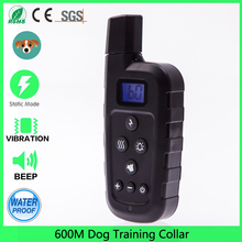 Rechargeable Dog Training Shock Collar Remote 600m Beep Vibrate Stop Bark E Collar Waterproof (For 1 dog)