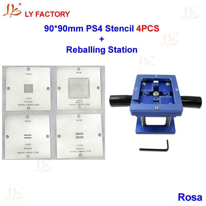 90mm PS4 Stencils + Reablling Station BGA Reballing Kit<br>