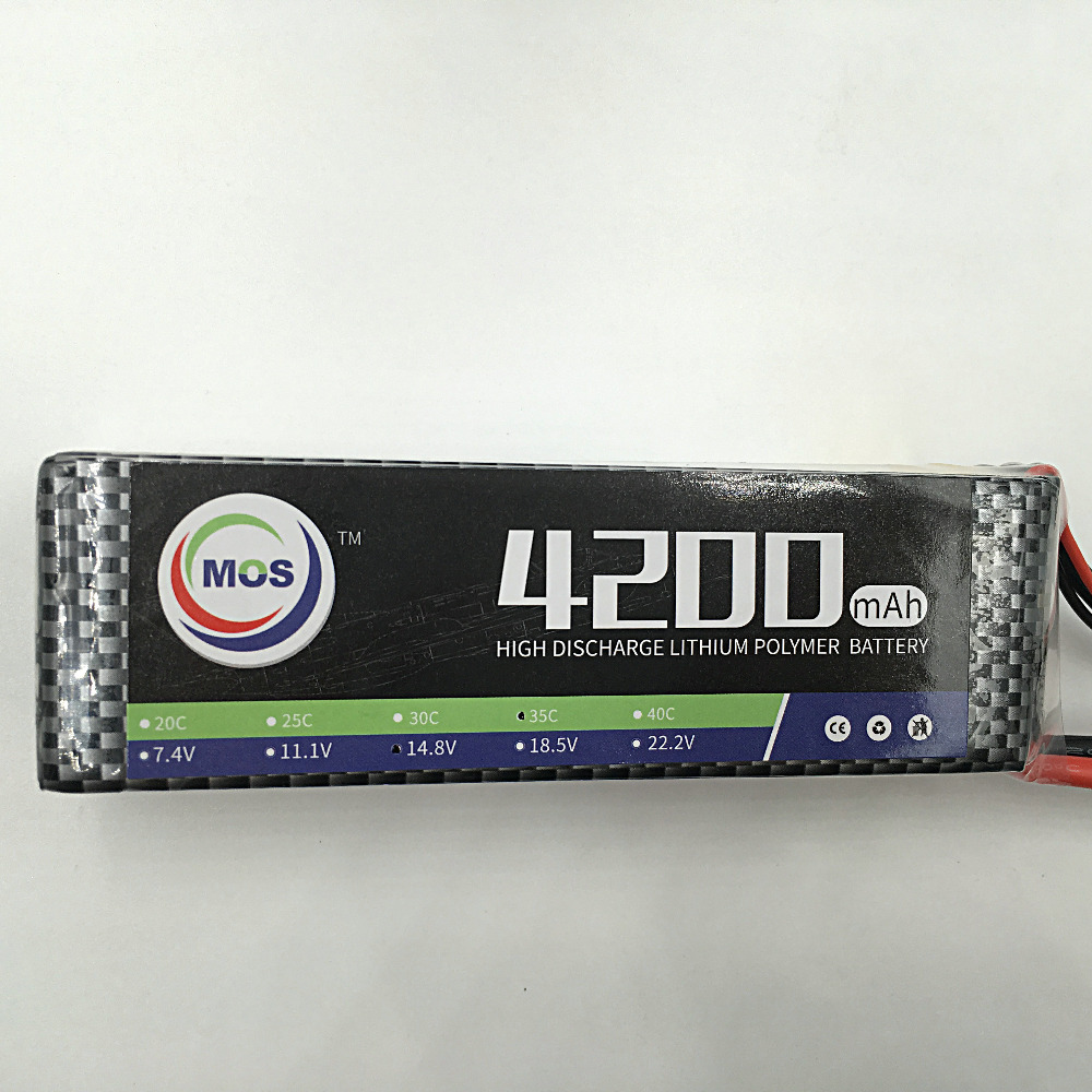 MOS 4S 14.8v  4200 40c lipo battery for rc airplane free shipping<br>