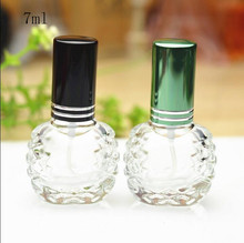 Free Shipping 7ml Glass Perfume Spray Bottles Parfume Women Perfume Makeup Setting Spray Empty Packsging Bottle Wholesale