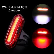 120 Lumens Rechargeable COB LED USB Mountain Bike Tail Light Taillight MTB Safety Warning Bicycle Rear Light Bicycle Lamp