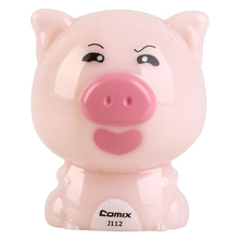 COMIX Fashion Cute & Funny Twelve Animal Shape Mini Pencil Sharpener For Kids Pippi pig (J112)