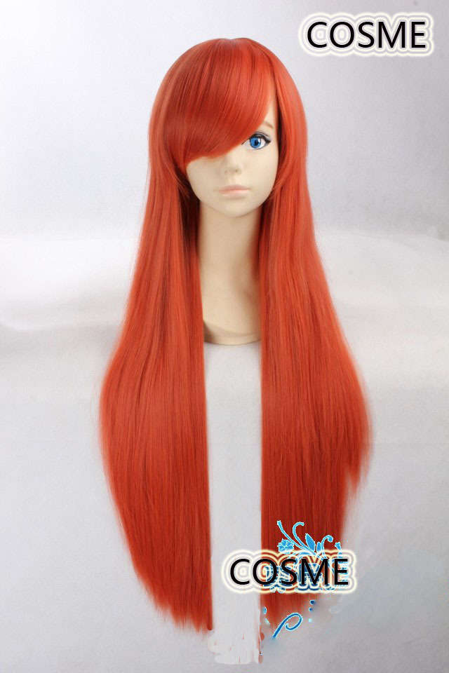 INOUE ORIHIME 80cm orange long straight hair cosplay anime wig Very Fashionable sexy heat resistance fibre Free shipping<br><br>Aliexpress