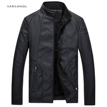 Buy Varsanol Mens Causal Bomber Jackets Black Coats Solid Leather Clothing Male Long Sleeve Autumn Winter Outerwear Hot New Arrivals for $35.00 in AliExpress store
