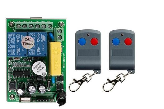 latest AC220V 2CH 10A RF Remote Control Switch System 2X Transmitter + 1 X Receiver 2ch relay smart home z-wave<br><br>Aliexpress