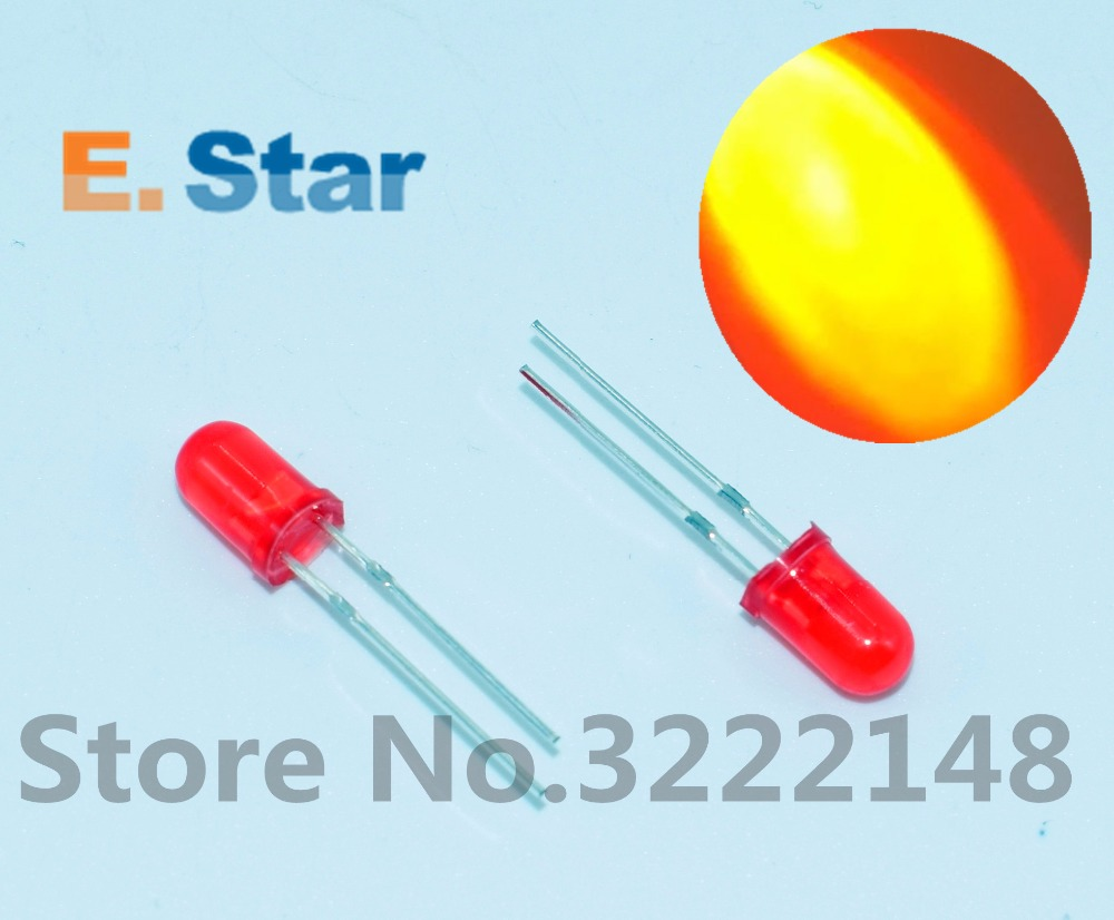 1000pcs F5 5MM RED COLOR RED LIGHT Super Bright Bulb Lamp LED DIFFUSED