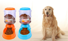 3.5L Fashion Pet Dog cat animal AutoMatic Food Dispenser Feeder Bowl