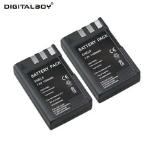 Factory Price Hot Sale 1100mAh 2Pcs Camera Battery for Nikon EN-EL9 ENEL9 EN-EL9A D40 D40x D60 D3X D3000 D5000(China)