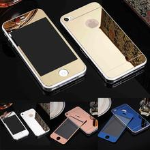 Buy 2Pcs/Lot Front+Back LOGO Hole 4/4S Mirror Tempered Glass iPhone 5 5s SE 6 6S Screen Protector Color Plate Film NO LOGO for $1.81 in AliExpress store