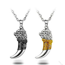 Sterling Silver Gold Spike Korean jewelry wholesale pendant necklace pendant male (without chain) free shipping