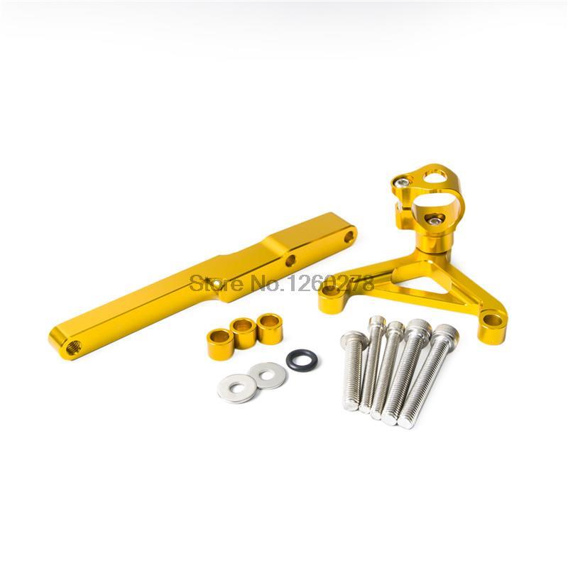 Gold CNC Steering Damper Mounting Kit For Honda CB1000R 2008 2009 2010 2011 2012 2013 2014 2015<br>