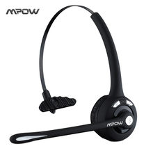 MBH15 Mpow Professional Over-the-Head Driver Rechargeable Wireless Bluetooth Headset Mic Microphone Noise Cancelling Headphones(China)