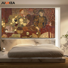 Artist Edouard Vuillard Arts Reproduction Flower Women Canvas Print Painting Poster Wall Pictures For Home Decoration Wall Decor(China)