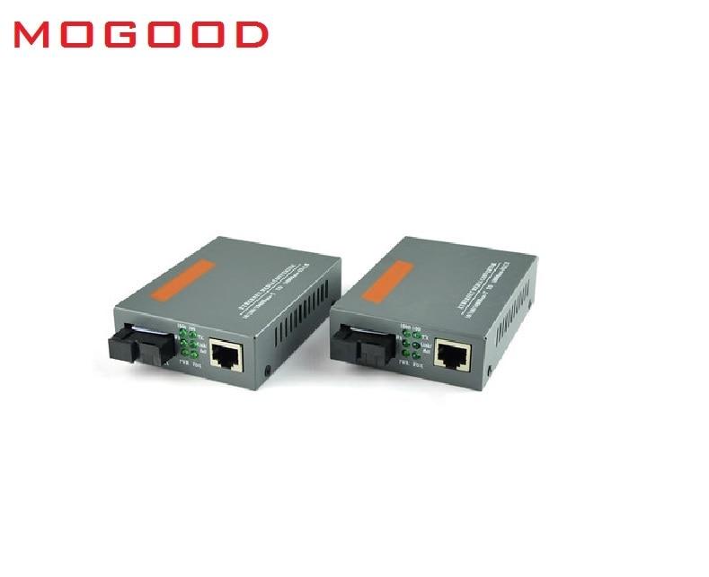 MoGood 10M/100M/1000M Single Mode Single Fiber Fiber Optical Media Converter SC Port 25KM, 10M/100M/1000M RJ45,GS-03-20KM-AB<br>