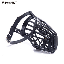 T-MENG  Pet Dog Mussle Adjustable Mask Bark Bite Mesh Mouth Muzzle Anti Stop Chewing For Small Medium Large Dogs Pet Products