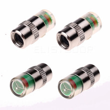 2017 4 PCS/Lot 2.4 Bar 36 PSI Car Auto Tire Pressure Monitor Valve Stem Caps Cover Sensor Indicator Alert(China)