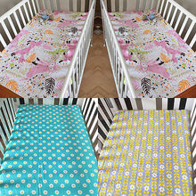 Infant Nursery Baby Boy Girl Crib Fitted Sheet Cot Bedding Sheets Dust Ruffles Baby bed sheets for sleeping