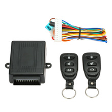 Car Alarm Auto Door Lock Keyless Entry System with Trunk Release Button Keychain Remote Central Locking With Remote Control(China)
