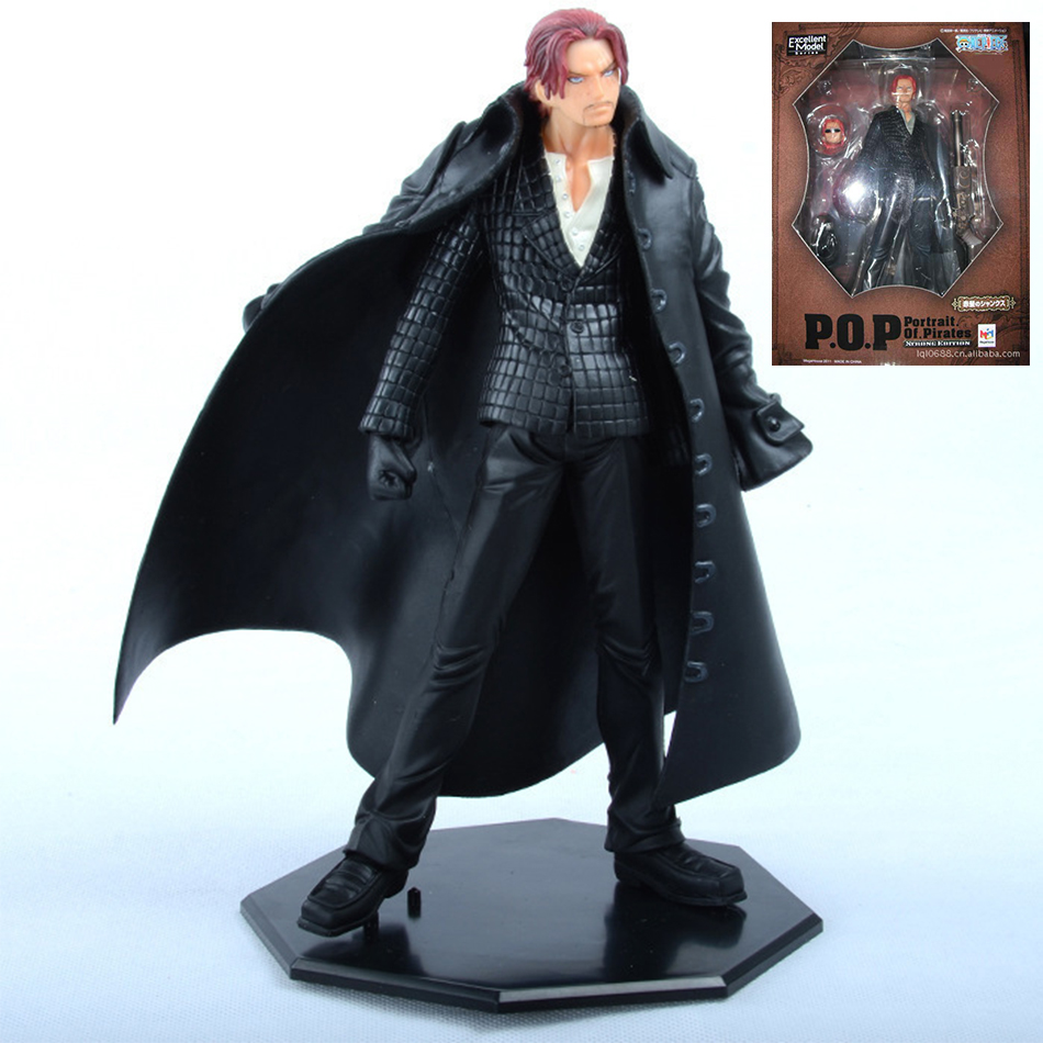1pcs One Piece Japanese Anime Akakami No Shankusu Onepiece New World red hair Action Figure Toys Juguete 18cm PVC Model pop<br><br>Aliexpress