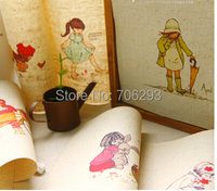17 design 6pcs/set  Hand Dyed Fabric for Sewing,Linen Cotton Patchwork Fabric 12x12 cm Childish fun childhood