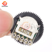 10Pcs A103 10K Mini Duplex Gear Potentiometer Dial 16x2mm 5 Pin for Radio MP3/MP4 Volume Adjustment Switch Potentiometers(China)