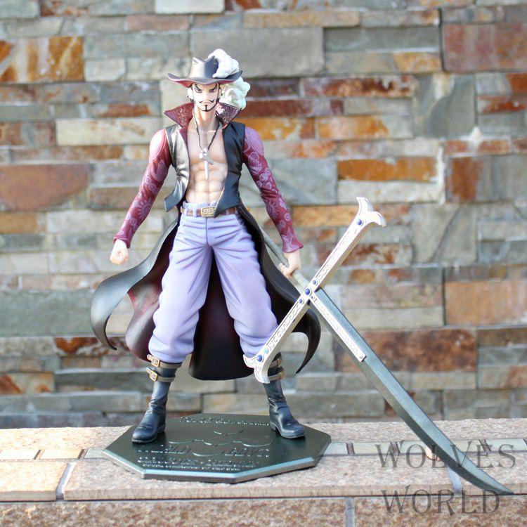 Wholesale/Retail Free Shipping FS  One Piece POP Hawk Eye Dracule Mihawk Figure Figurine 22cm ni New box<br><br>Aliexpress