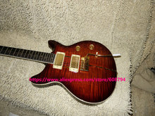 Wholesale Guitars Brown Flame 25TH Anniversary SANTANA Electric Guitar OEM From China(China)