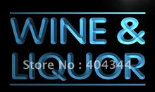 LB405- Wine and Liquor Store LED Neon Light Sign home decor shop crafts(China)