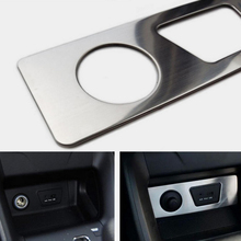 New Stainless steel interior Cigarette lighter decorative cover For H/yundai IX35 2013 2014 2015  sliver