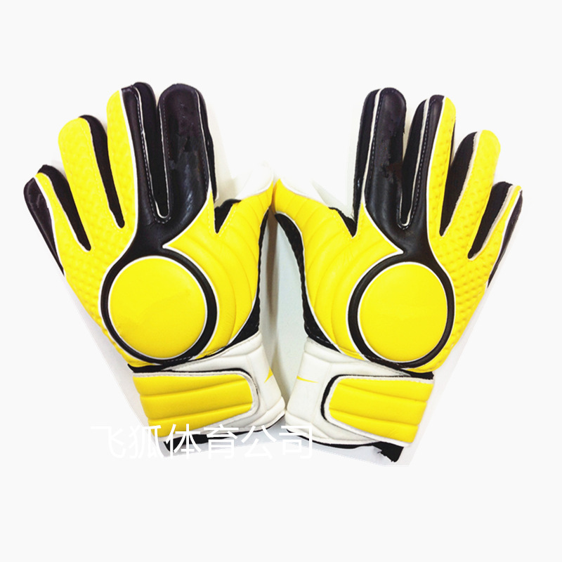 Image Professional Soccer Goalkeeper Gloves + Finger Protection Thickened Latex Soccer Goalie Gloves Football Goal Keeper Gloves