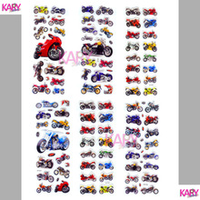 6 Sheets Motorcycle Motorbike Auto Racing Scrapbooking Kawaii Emoji Reward Kids Toys Bubble Puffy Stickers Factory Direct Sales