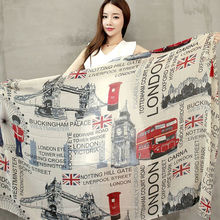 [Visual Axles] Wholesale Vintage London Flag Infinity Scarf Circle UK Flag Scarves For Women/Ladies