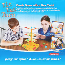 Tictactoe classic game with a new twist Tic Tac turn compete intellect game,four-in-row wins move spin play challenging toys(China)