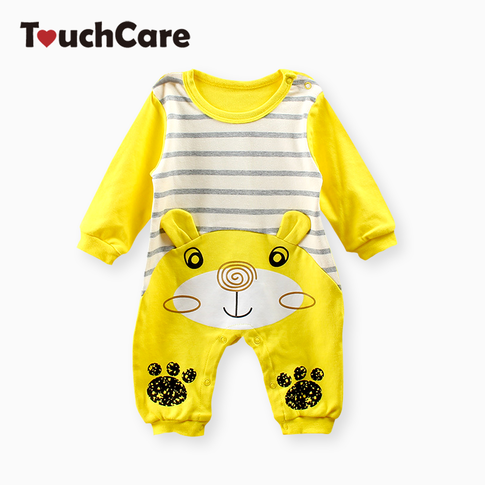 Touchcare Spring Autumn Newborn Baby Boy Girl Rompers Long Sleeve Cartoon Jumpsuit Kids Infant Baby Clothes Baby Romper