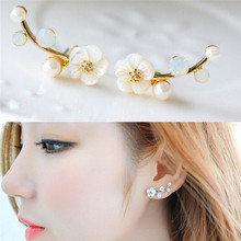 JETTING Fashion Daisy Flowers Crystals Stud Earring Jewelry Earrings female Ear brincos Pending