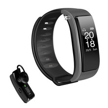 Smart Bracelet Watch Heart Rate Monitoring Motion Detection Bluetooth Headset Combined Touch Screen Intelligent Bracelet(China)