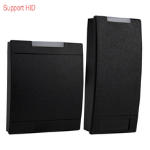 RFID Card Reader Support HID EM ID Card Reader 125KHz Proximity Smart Card Reader Lector With LED Light High quality Black Color(China)