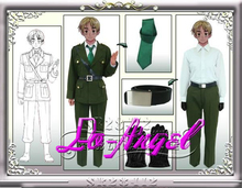 Anime APH Axis Powers Hetalia England Military Uniform Full Set Cosplay Halloween Party Costume Customized Size