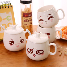 VILEAD Coffee Mug Smiley Mug Creative Cup Face Cup Cartoon Face with Handgrip 320ml Cup Computer Mug Novelty Cute Coffee Mugs