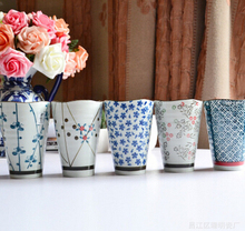 Free shipping Japanese style Juice Coffee Tea Cup Milk Cup Ceramic Mug  Birthday gift color your life