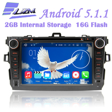 1024*600 16G 8 Inch Android 5.1.1 Car DVD Player Tape Wifi 3G GPS BT Radio DVR For Toyota Corolla 2006 2007 2008 2009 2010 2011