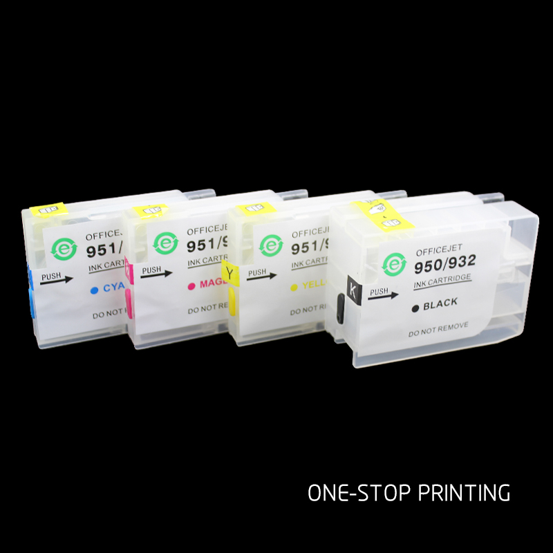 Without chip ciss cartridge Refillable ink Cartridge for HP OfficeJet Pro 6100 6600 6700 7110 7610 7612 hp932 933 950 951 hp711(China)