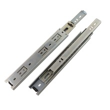 2pcs 8inch Length Drawer Slides Rail 40mm Width Cold-Rolled Steel Fold Telescopic Ball Bearing Cabinet Drawer Sliding Runner