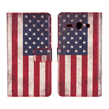 For Coque Huawei Y530 Cover Case Retro UK USA Flag Wallet Leather Book Purse Mobile Phone Bag For Huawei Y530 Capinha Capa Funda