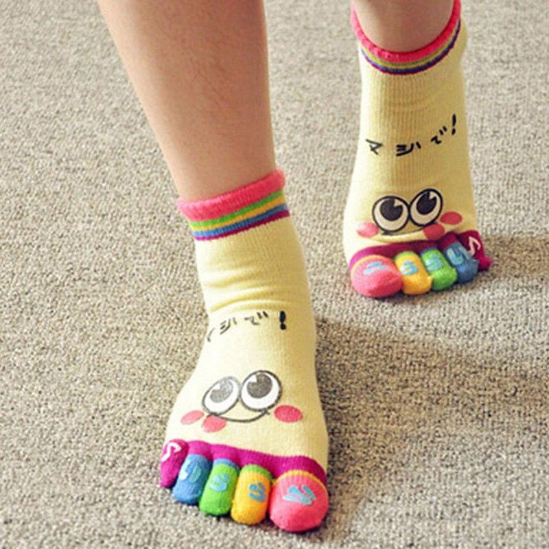Ladies Multi  coloured toe socks Socks with skull one Size