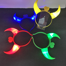 Led Wedding Dress 10 Pcs Halloween Party Luminous Claw Hair Clips Diamond Headband Hoop For Holiday Decor Toys Gift Glow Supply