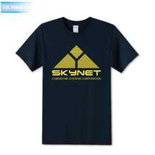Science Fiction Film Skynet Cyberdyne Systems Corporation Printed T-Shirt Tee Shirts Cool Tops Park Tracksuit For Men Film Fans(China)