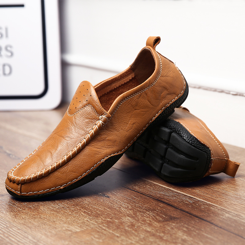 2017 Big Size 38~44 High Quality Genuine Leather Men Shoes Soft Moccasins Loafers Fashion Brand Men Flats Comfy Driving Shoes<br>
